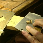 1) Filing interior pattern on hasp.