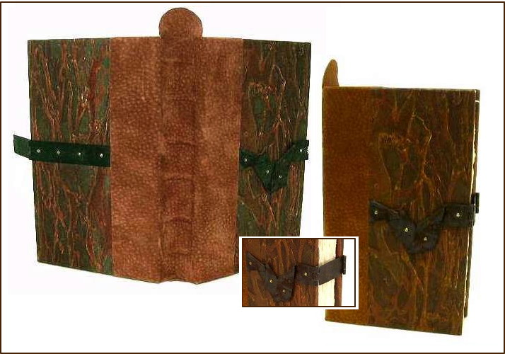 Rust Book, made from found and recycled materials